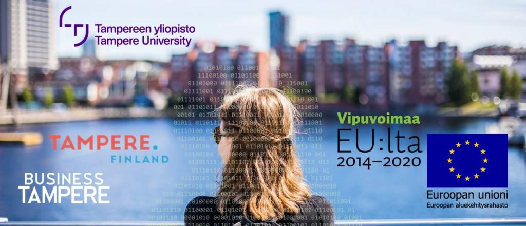 Alkuperäinen kuva: Jonne Renvall, Tampereen yliopisto / Tampere University. Lisäykset (logot ja binäärinumerot): Jonna Lähdemäki