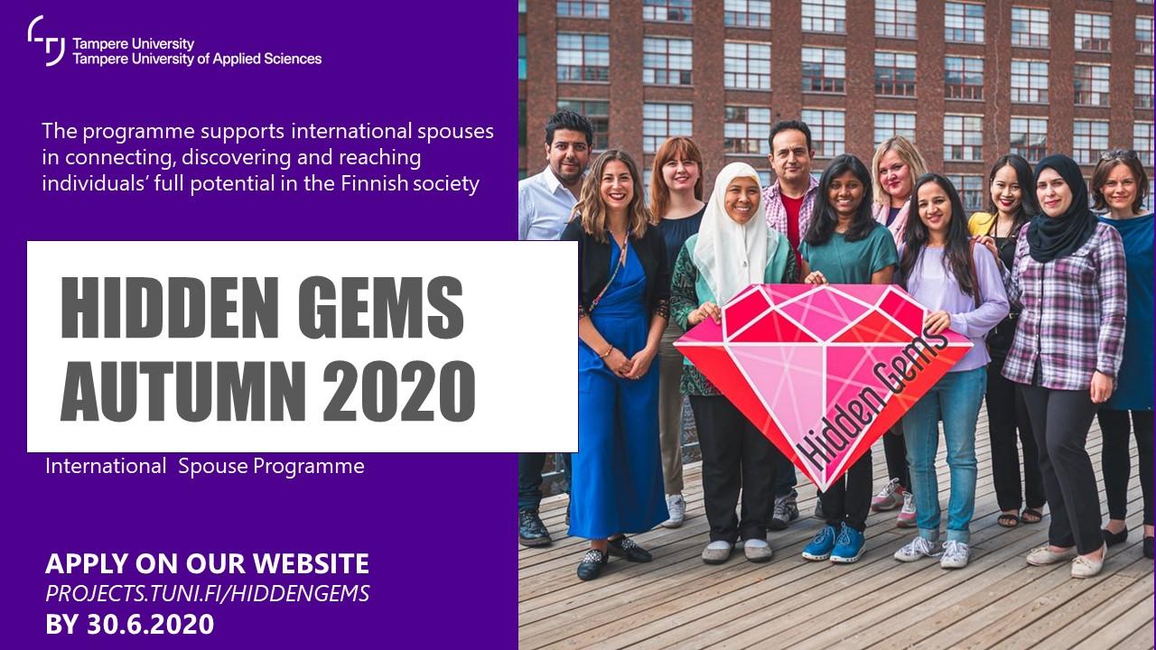 Hidden Gems Call for Applications Autumn 2020