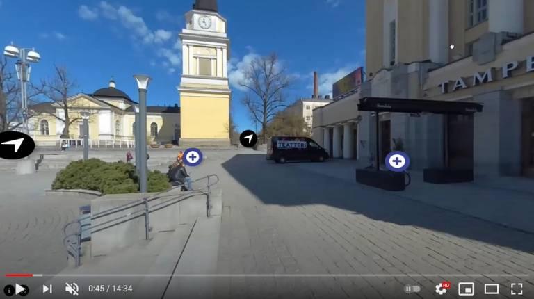 Tampereen keskustorin monet tunnelmat