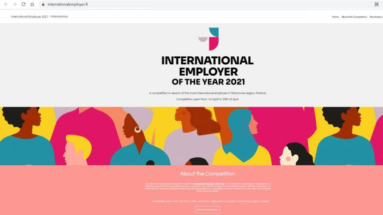 The most International employer of the year 2021 competition organised by JCI United