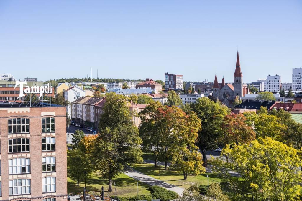 Maisemakuva Tampereesta, kuvituskuva